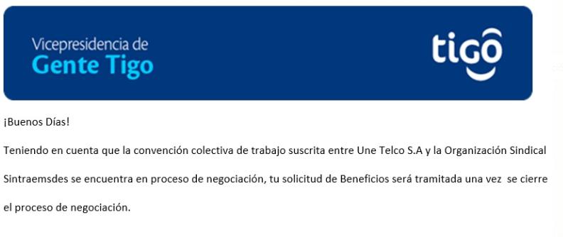 ¡ESTO ES COACCIÓN DIRECTA DE TIGO/ UNE!