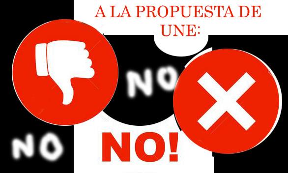 NO ACEPTAMOS SUSPENDER CLAUSULAS DE LA CONVENCION COLECTIVA EN UNE
