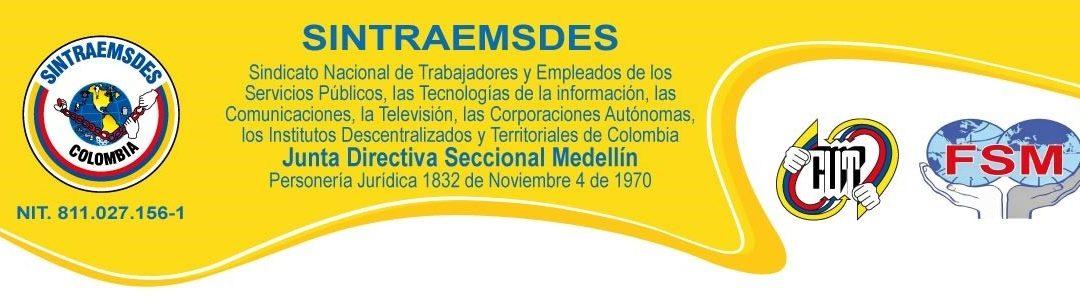 COMUNICADO CONJUNTO: SINTRAEMSDES Pereira, Medellín y Cali