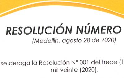 RESOLUCIÓN 02, 28 DE AGOSTO DE 2020